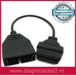 Cablu adaptor pentru Daewoo , de la 12 pini , la OBD2 – 16 pini , mama